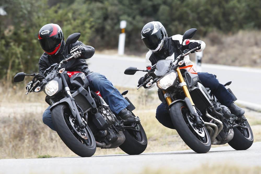 Comparativa Yamaha MT-09 y Yamaha MT-07