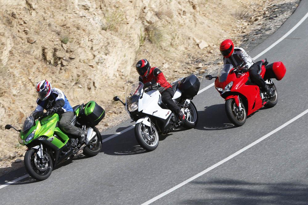 Comparativa turismo: BMW F 800 GT, Honda VFR800F, Kawasaki Z1000SX Tourer