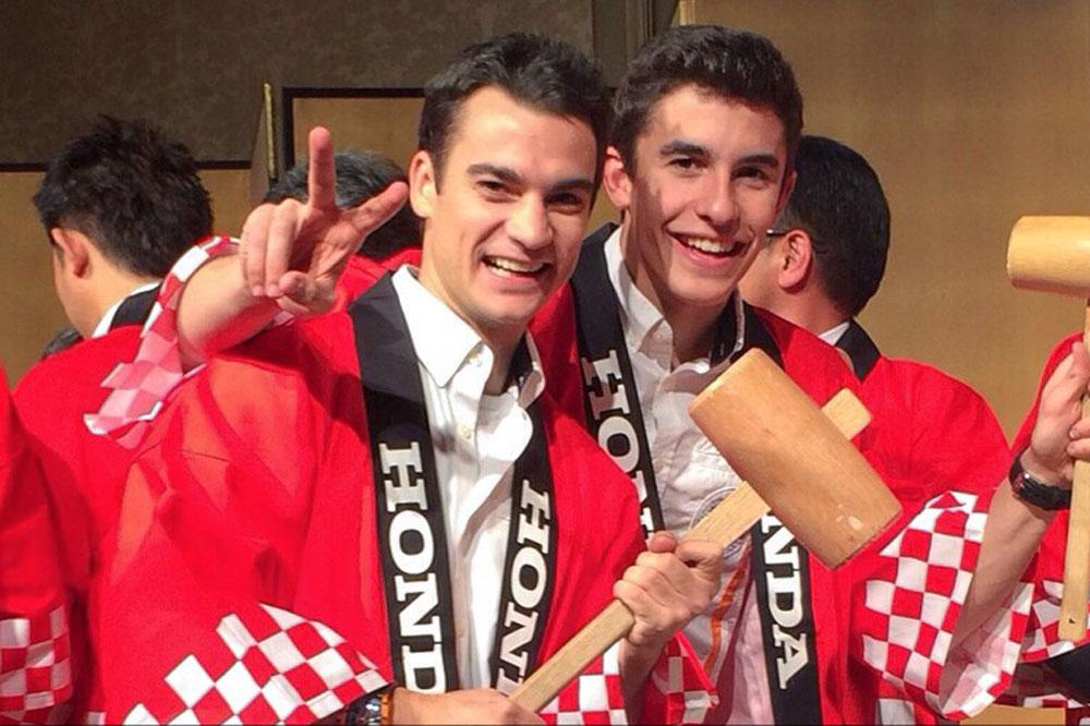 Márquez y Pedrosa celebran el título de MotoGP en Japón