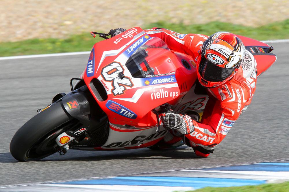 Las Ducati lideran el tercer día de test en Jerez