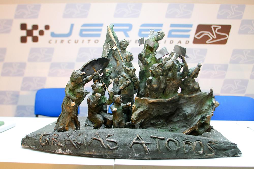 La obra 'La afición' gana el concurso del Monumento a la Afición del Circuito de Jerez