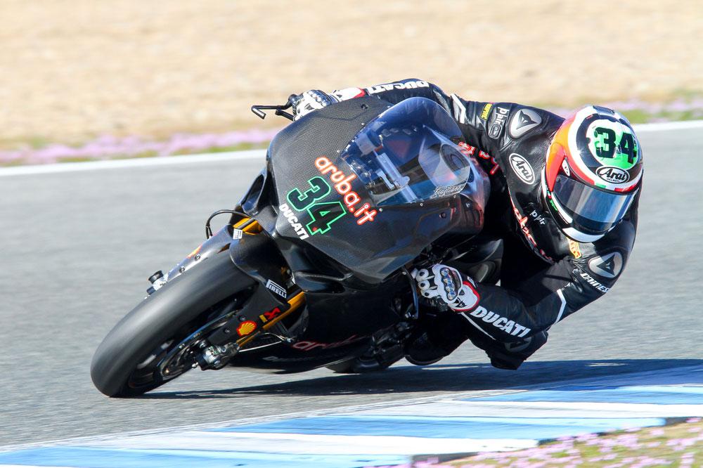 Giugliano cierra el test de Jerez con el mejor crono