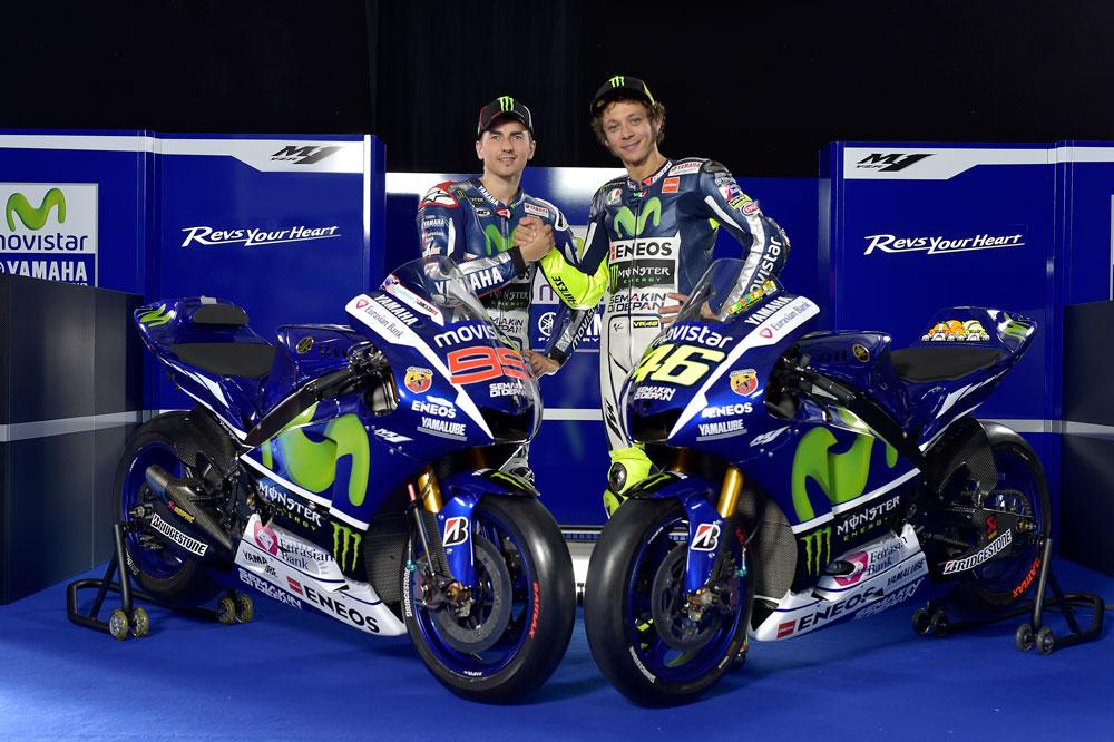 Lorenzo y Rossi presentan la Yamaha 2015 de MotoGP