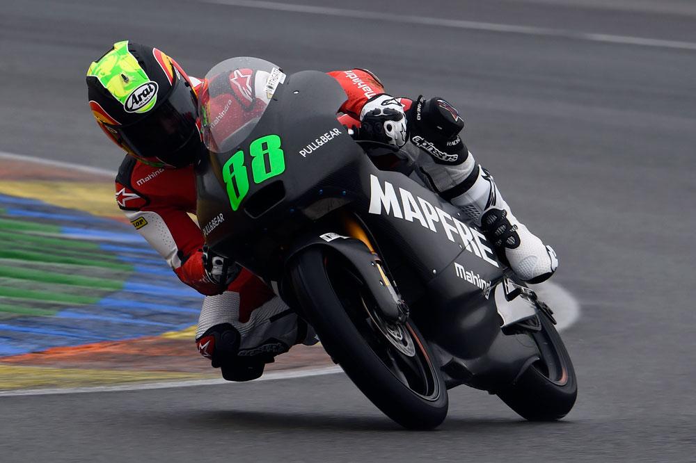 La lluvia presente en el tercer día de test de Moto2 y Moto3