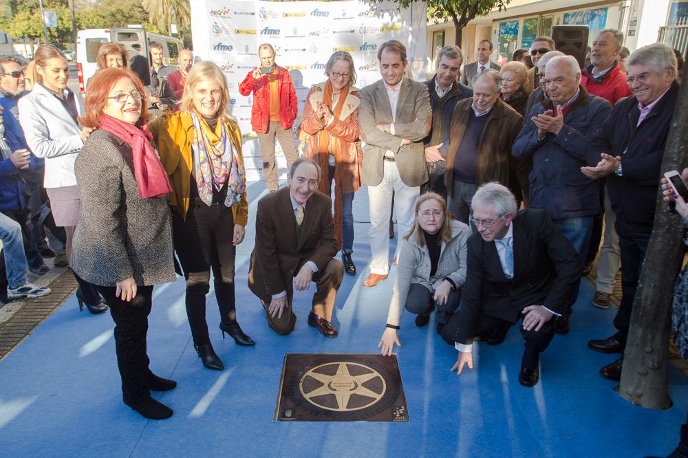 Francisco Pacheco tercera estrella del Paseo de la Fama de Jerez