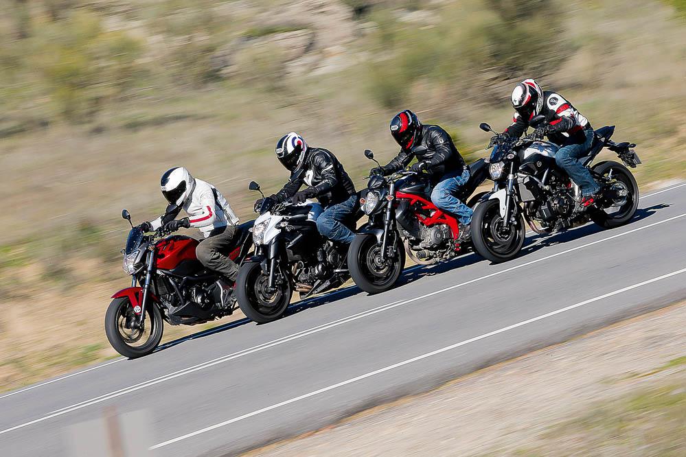 Comparativa naked: Honda NC750S, Kawasaki ER-6n, Suzuki Gladius 650, Yamaha MT-07