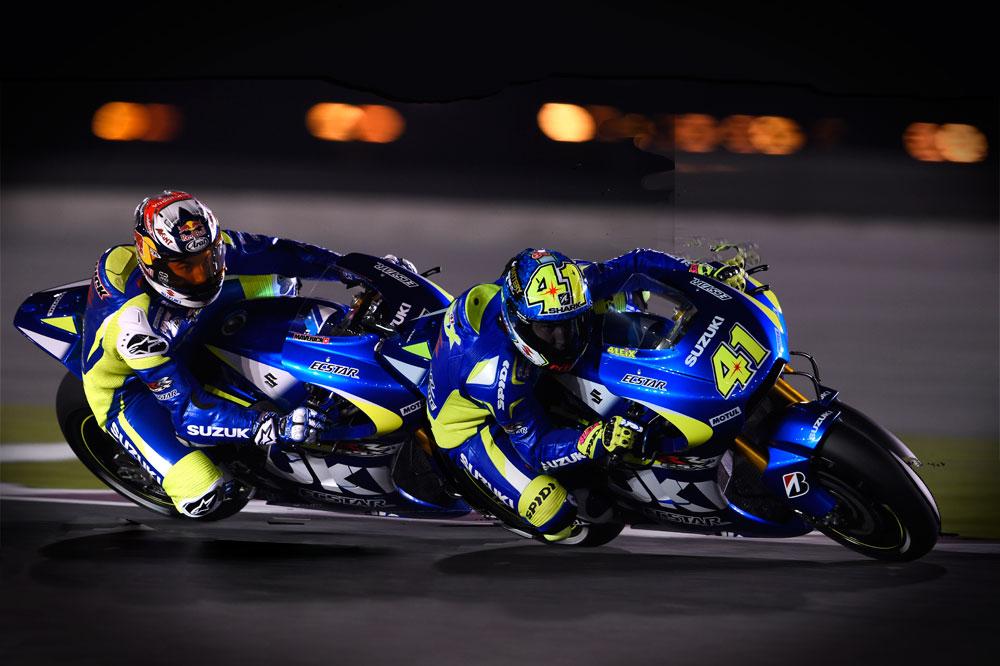Promoción de Suzuki para asistir a los Grandes Premios de Jerez y Montmeló