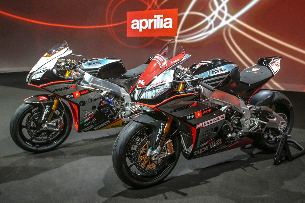Presentación de los equipos Aprilia de MotoGP y SBK