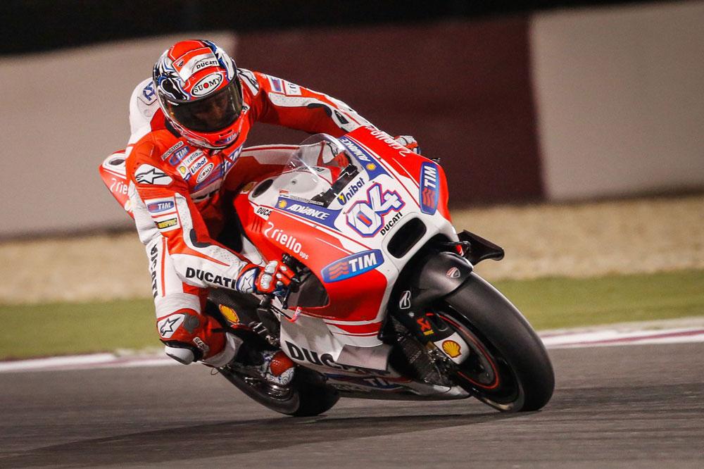 Dovizioso lidera el segundo día de test en Qatar