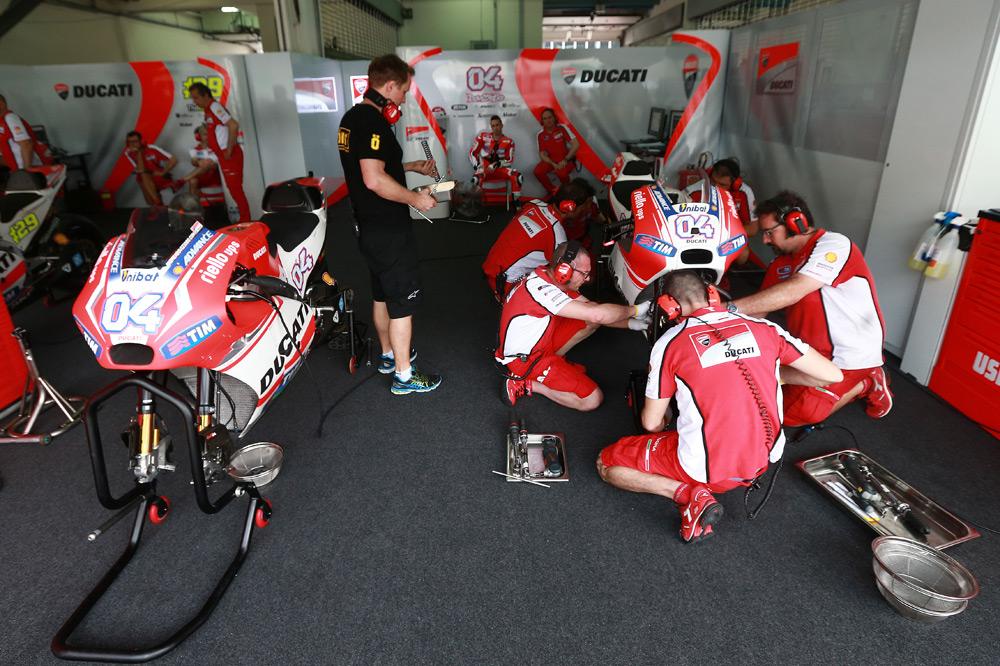 Reducción de combustible para Ducati