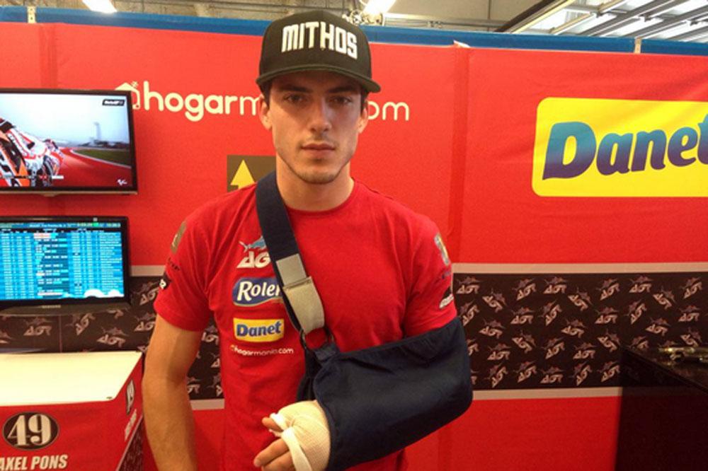 Axel Pons, baja para el GP de las Américas