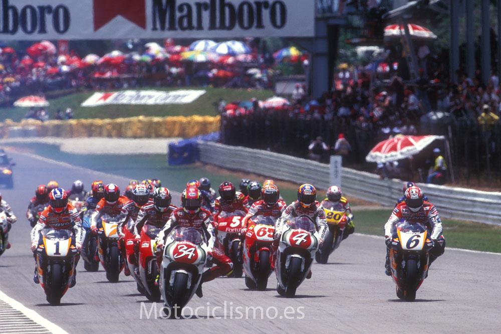 La pelea por los patrocinadores en el Mundial de 500 y MotoGP