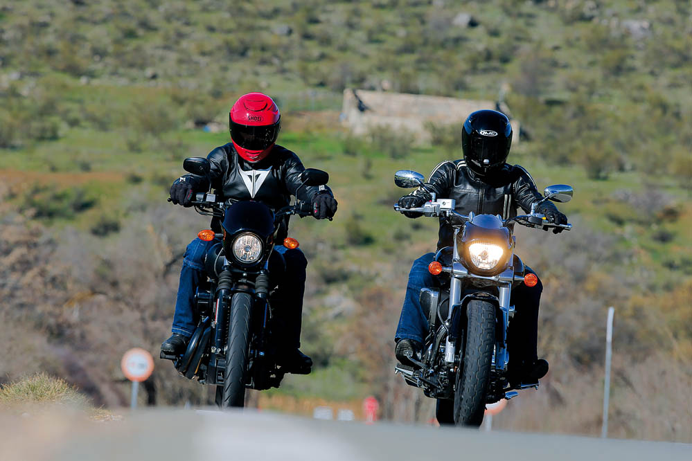 Comparativa Custom: Harley-Davidson Street 750 y Suzuki Intruder M800
