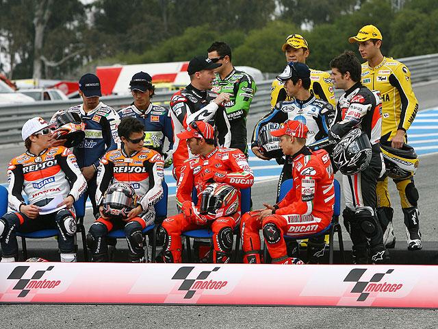 Así está la parrilla de MotoGP 2008