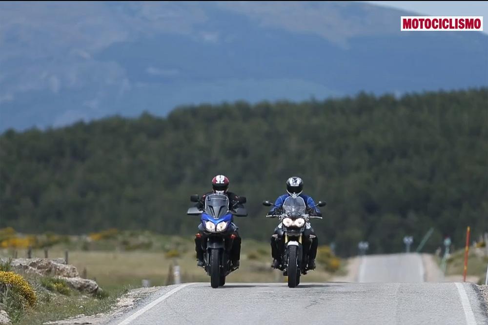 Vídeo comparativa Suzuki V-Strom 650 y Triumph Tiger 800