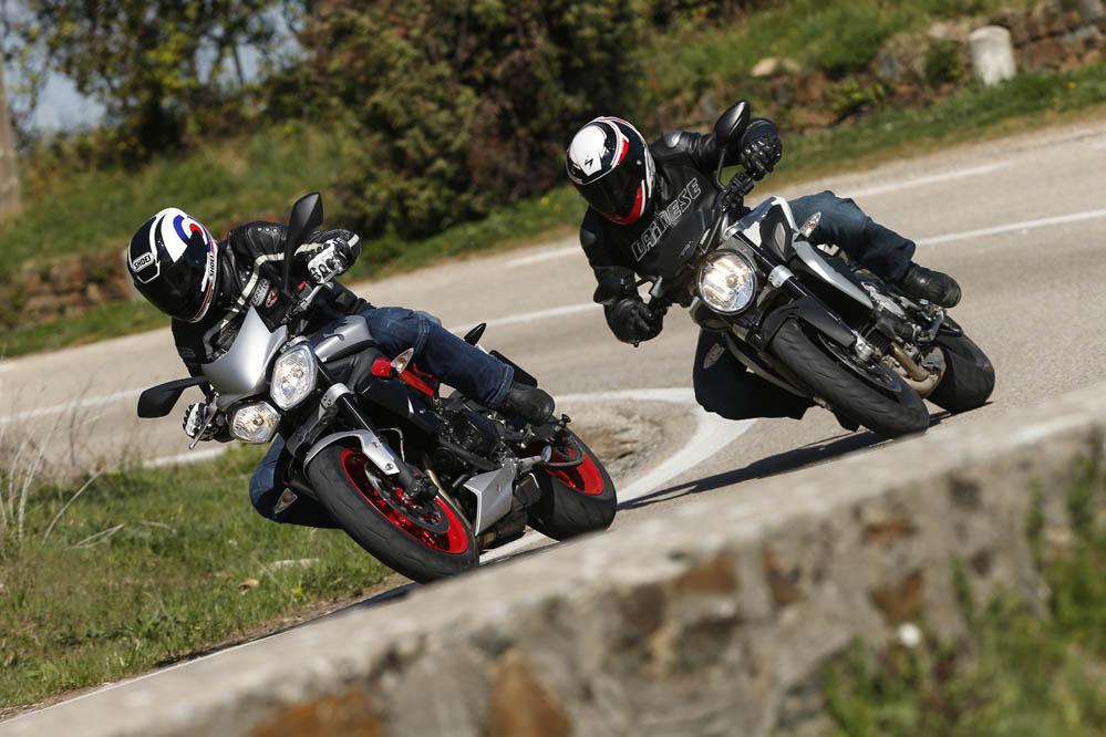 Comparativa naked medias: MV Agusta Brutale 675 y Triumph Street Triple RX