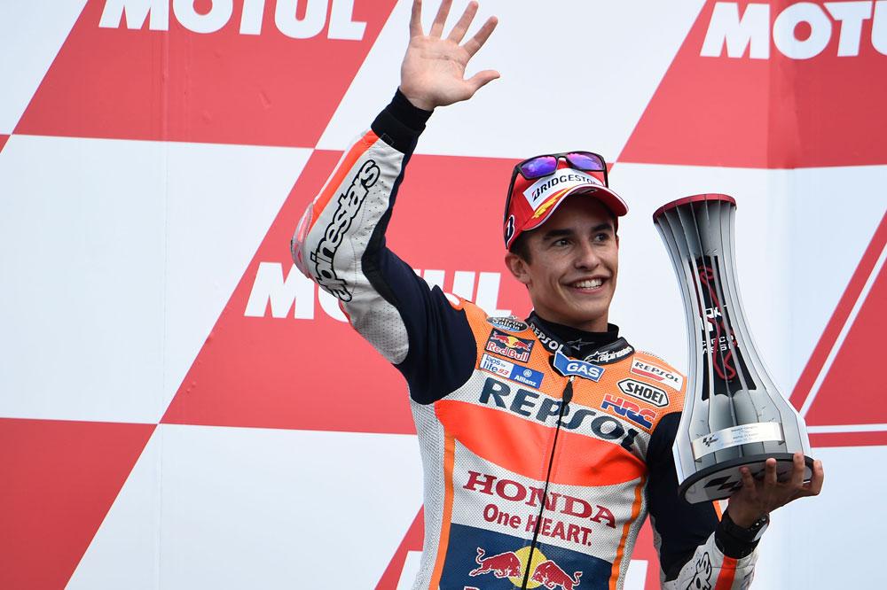 Marc Márquez: Es cierto que ha habido contacto pero Valentino ya sabía que yo esta allí.