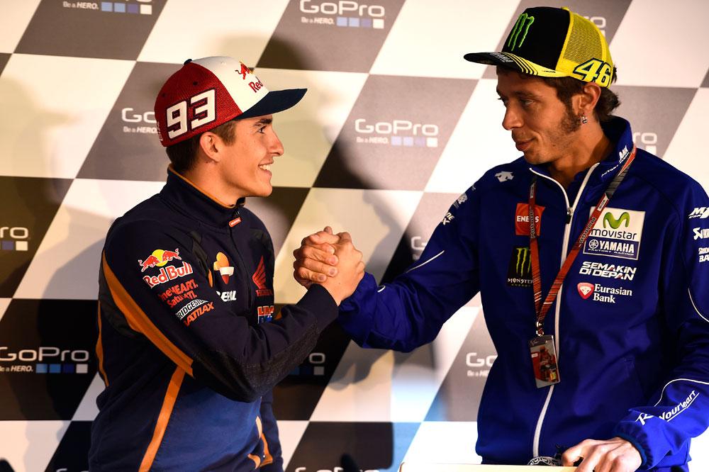 Marc Márquez: Una vez más Rossi fue el más listo...