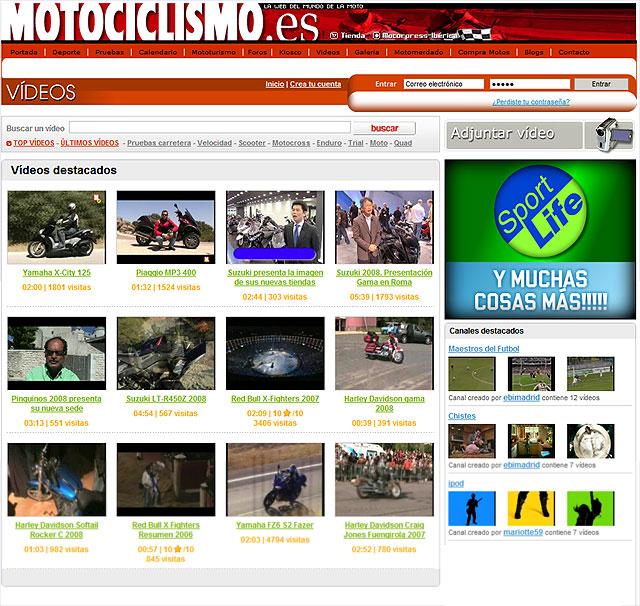 Nueva sección de vídeos en nuestra web