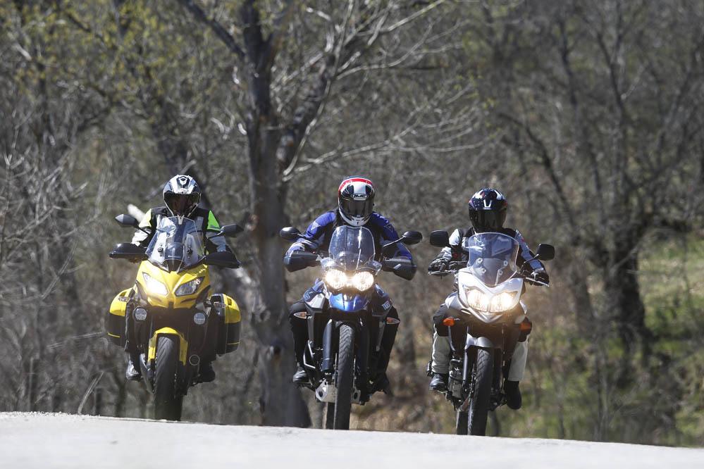 Comparativa Trail: Kawasaki Versys 650 Tourer Plus, Suzuki V-Strom 650 XC, Triumph Tiger 800 XCx