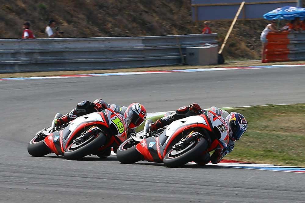 Álvaro Bautista y Stefan Bradl, pilotos Aprilia 2016