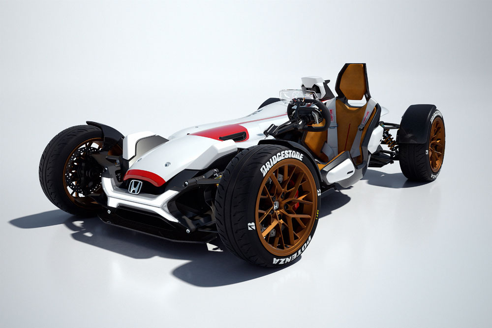 El coche Honda con el motor de la RC213V-S