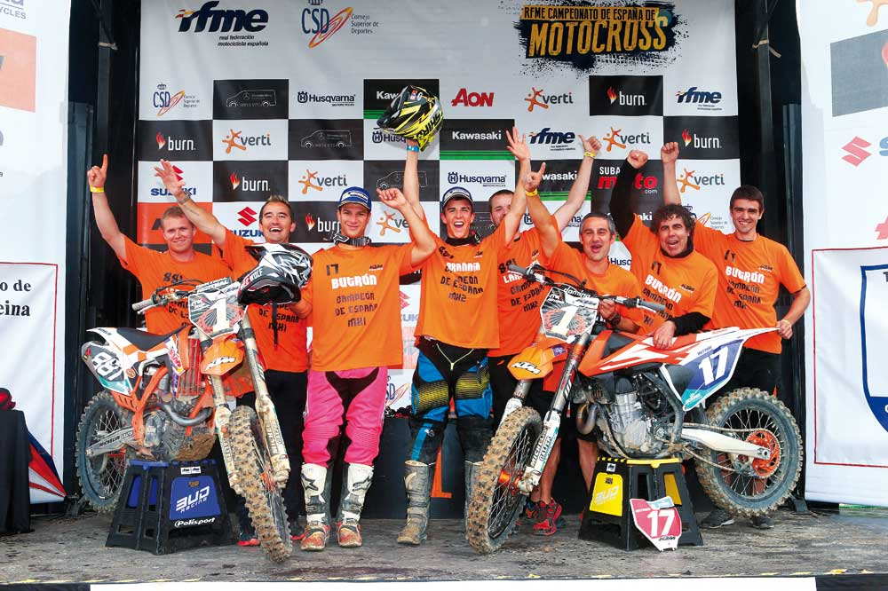 Títulos para José A. Butrón e Iker Larrañaga en el Nacional de Motocross
