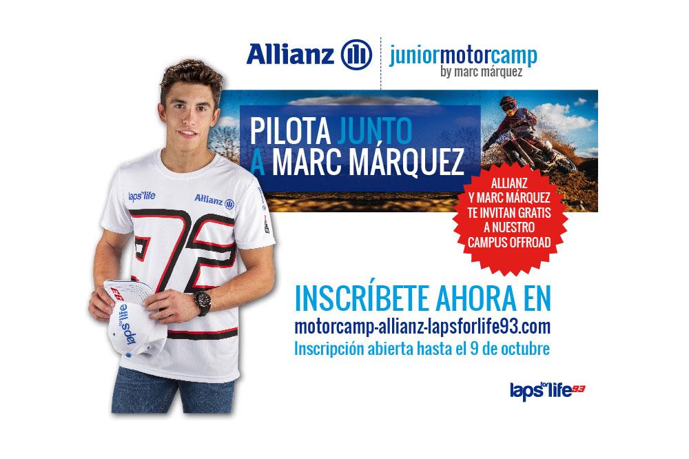 Márquez ya ha elegido a los niños que participarán en el Allianz Junior Motor Camp