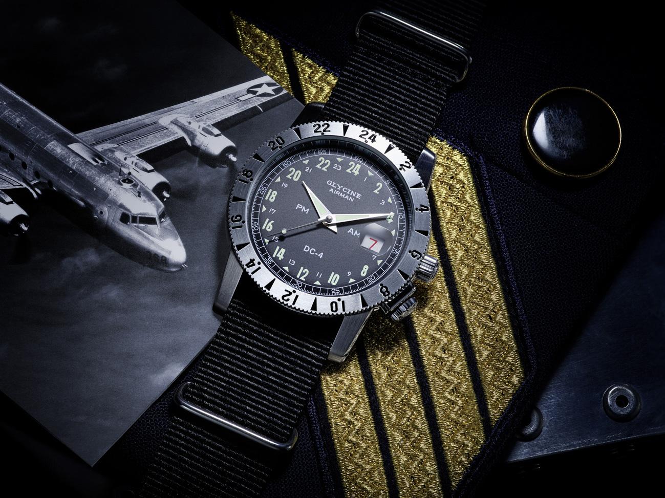 Glycine presenta el reloj Airman DC-4