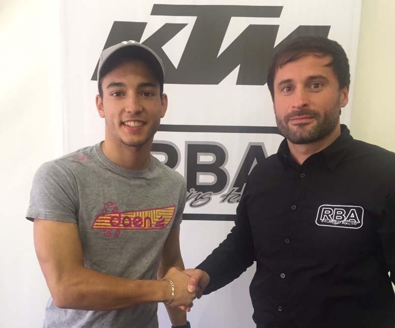 Juanfran Guevara disputará el Campeonato de Moto3 con el RBA Racing