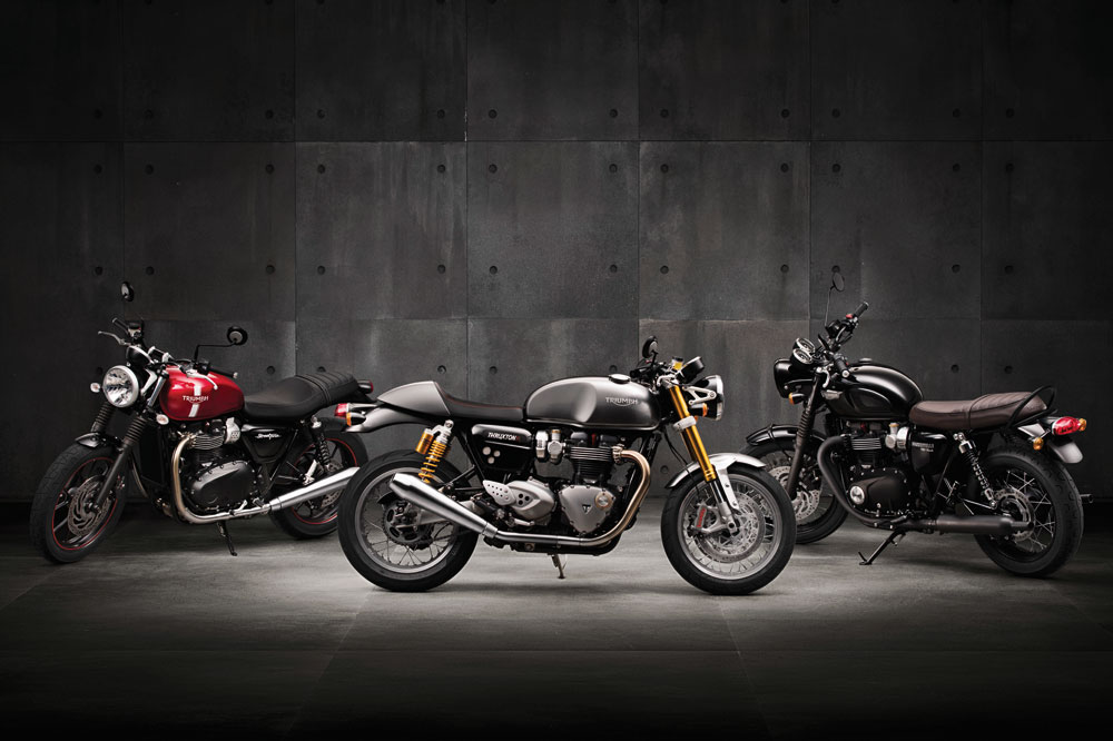 Triumph presenta sus nuevas cinco Bonneville 2016
