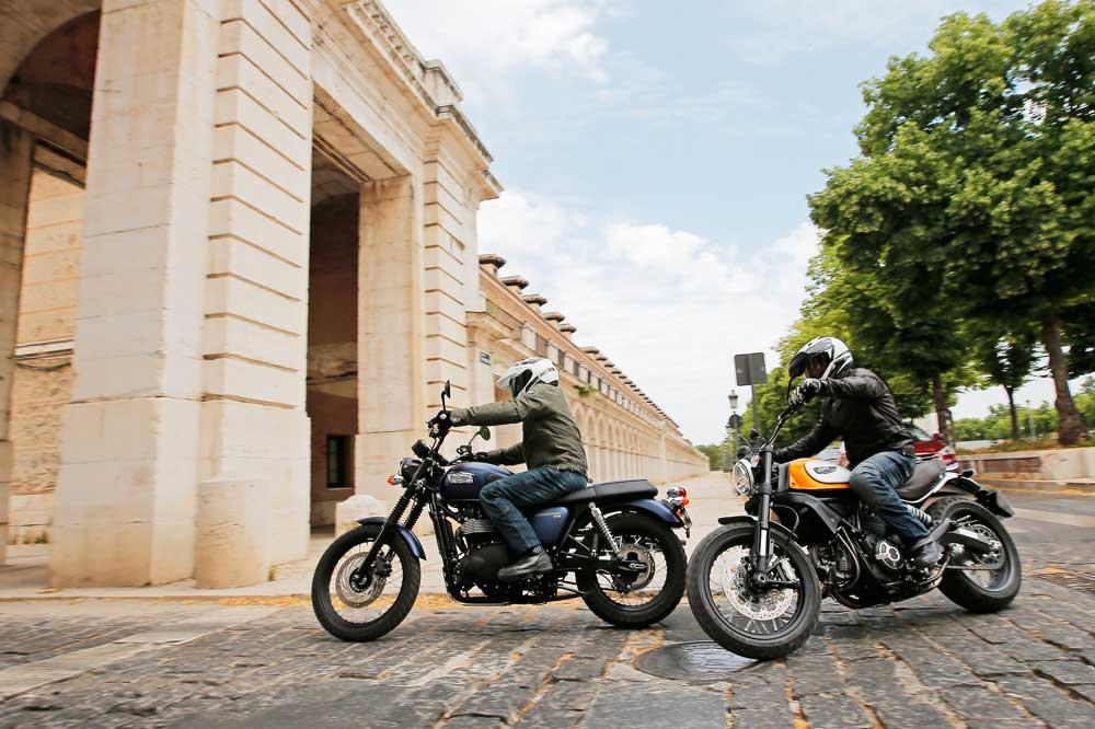Comparativa scrambler: Ducati y Triumph