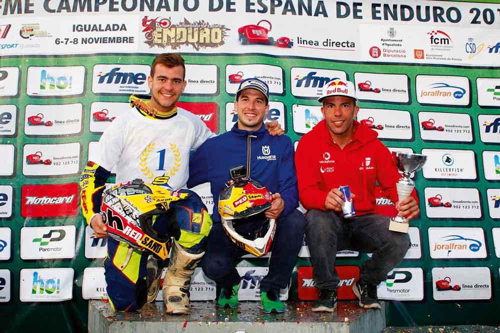 Jaume Betriu y Lorenzo Santolino, Campeones de España de Enduro
