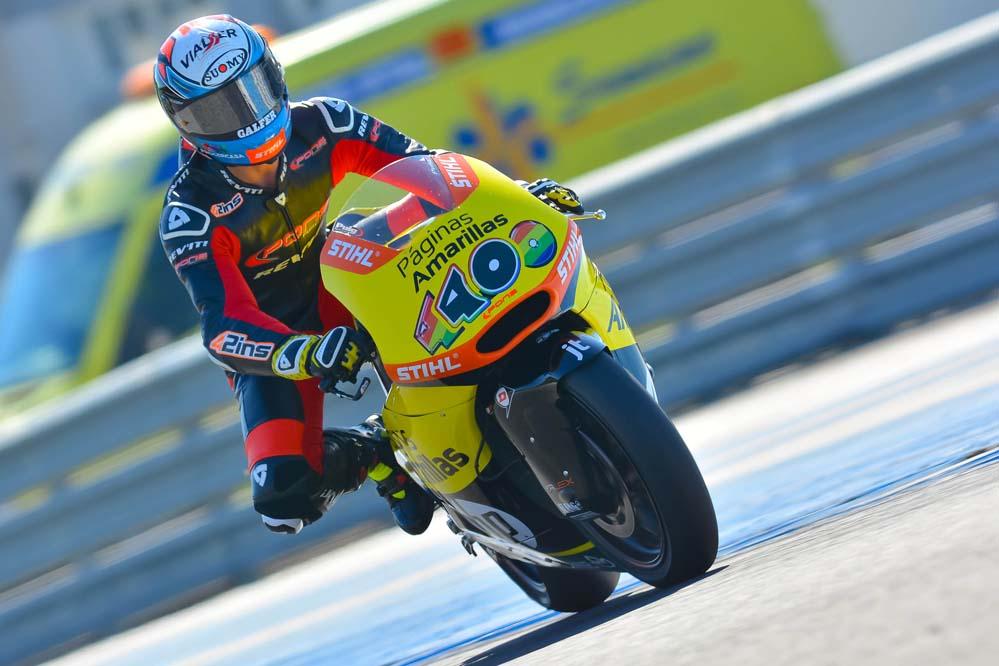 Alex Rins encabeza la tabla de tiempos en Jerez