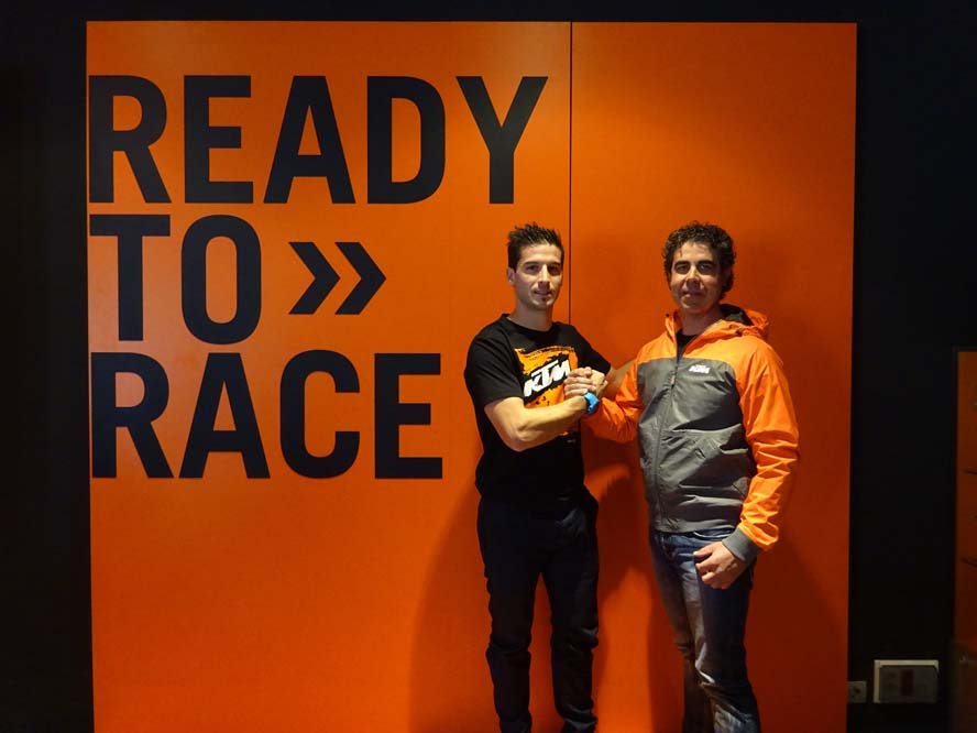 Jaume Betriu con KTM en 2016