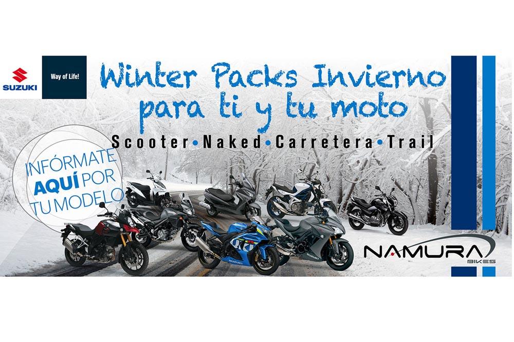 Tú y tu moto con Winter Pack en Suzuki Namura