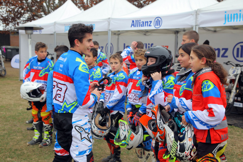 Marc Márquez presenta el Allianz Junior Motor Camp