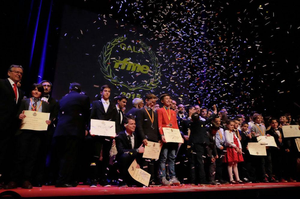 Los premiados en la Gala de Campeones 2015