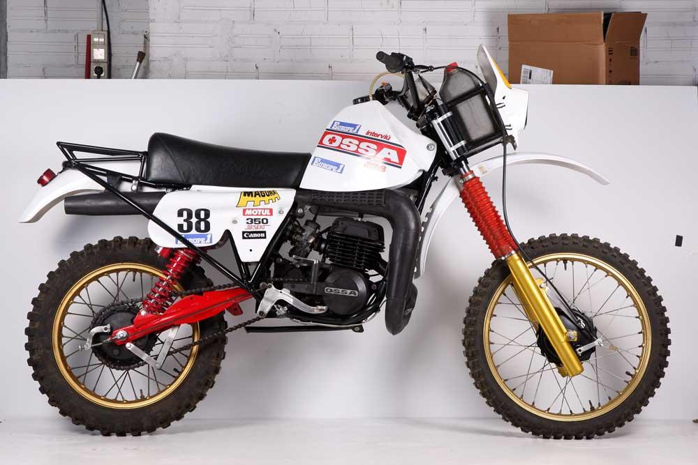 Moto clásica: OSSA Desert 350 Dakar 1982
