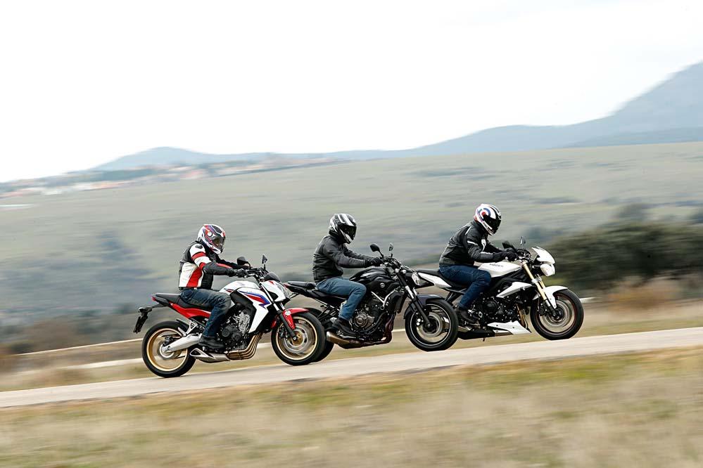Comparativa naked: Honda, Triumph y Yamaha