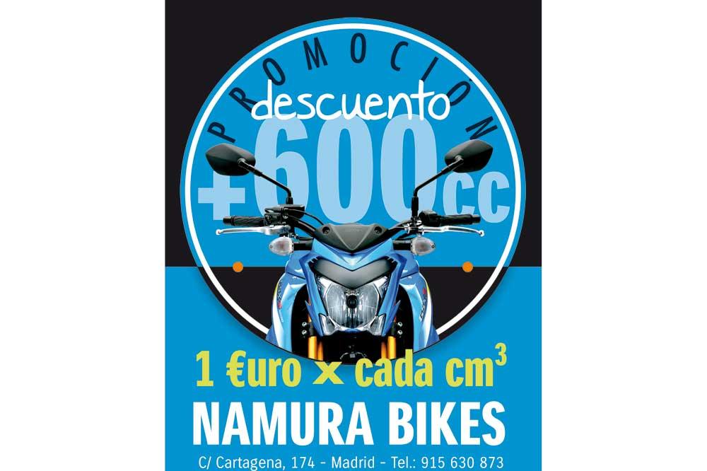 Financia tu nueva Suzuki y consigue 1€ de descuento por cada cc