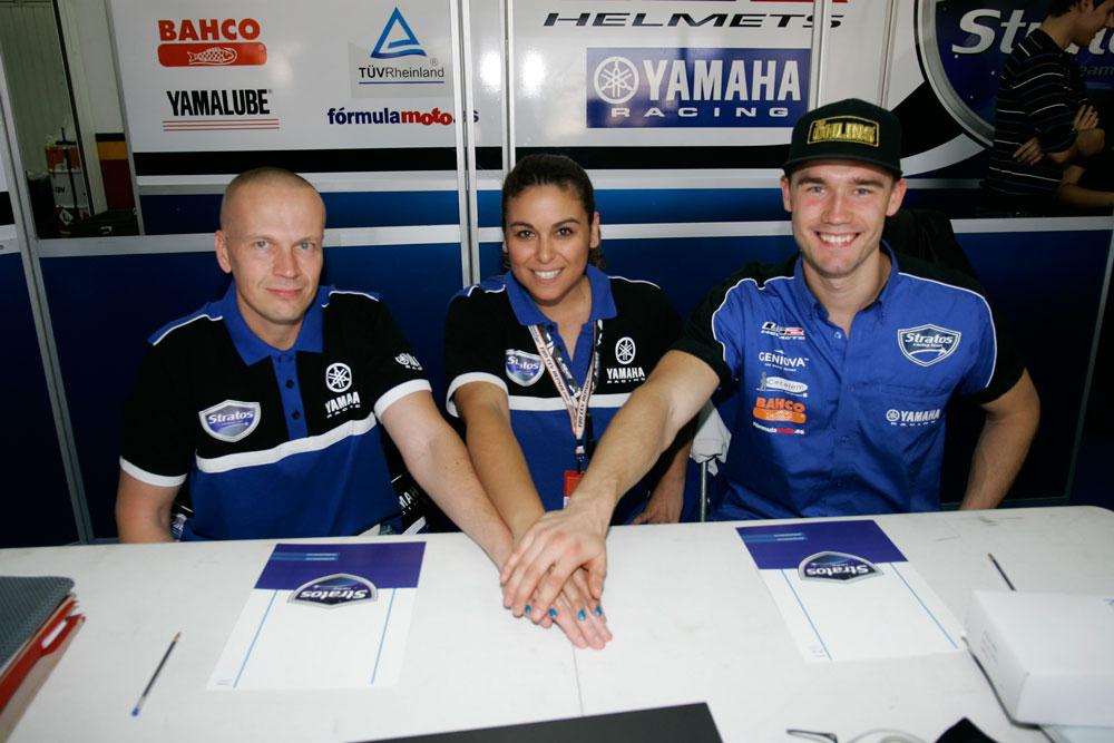 Niko Mäkinen y Mika Höglund, en el Yamaha Stratos del Europeo de SBK