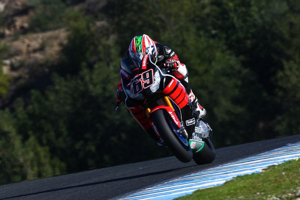 Los pilotos Honda de SBK muestran su evolución en Jerez