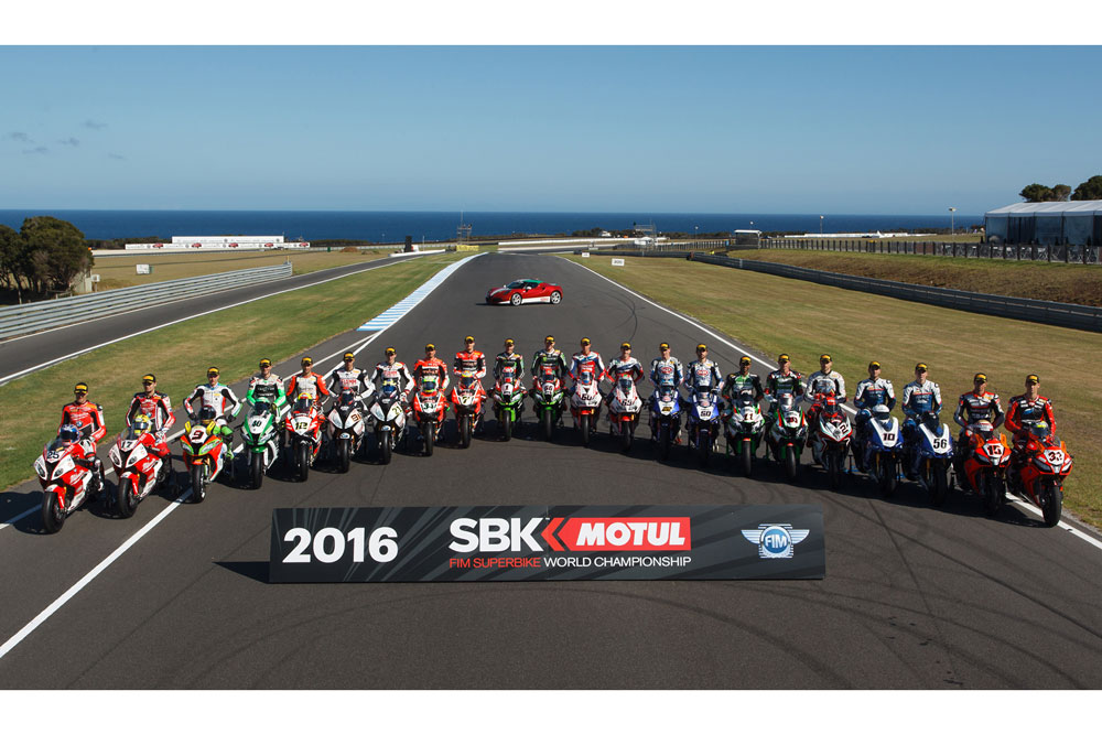 Equipos y pilotos de Superbike 2016: lista oficial