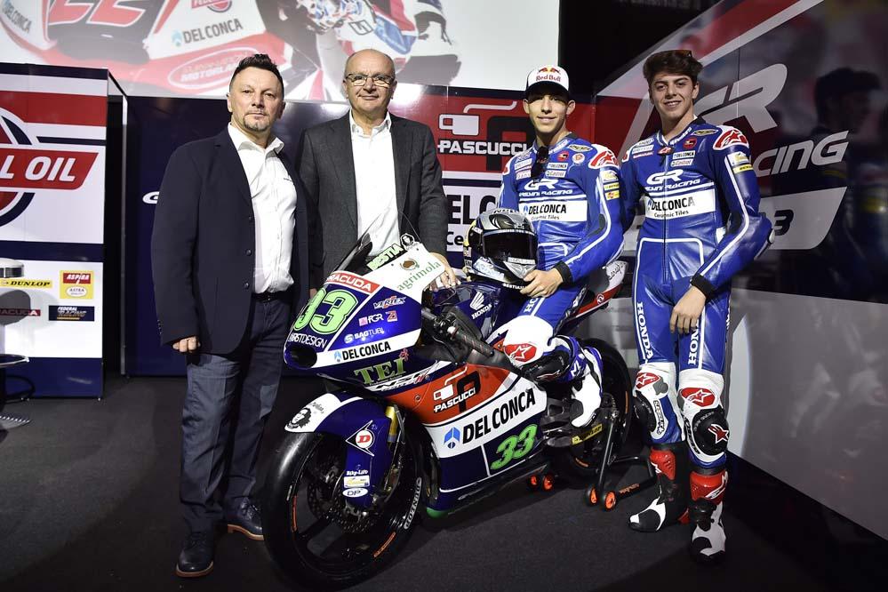 El Gresini Racing presenta su equipo de Moto3