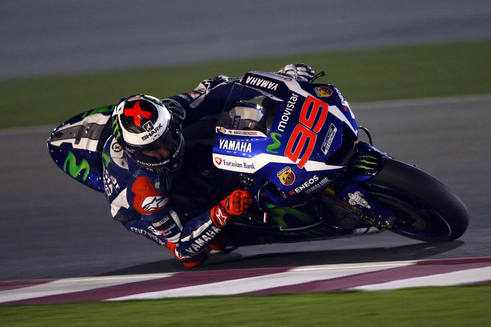 Jorge Lorenzo lidera el primer día de test en Qatar