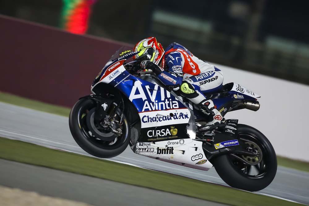 Hector Barberá termina quinto en el segundo día de test en Qatar