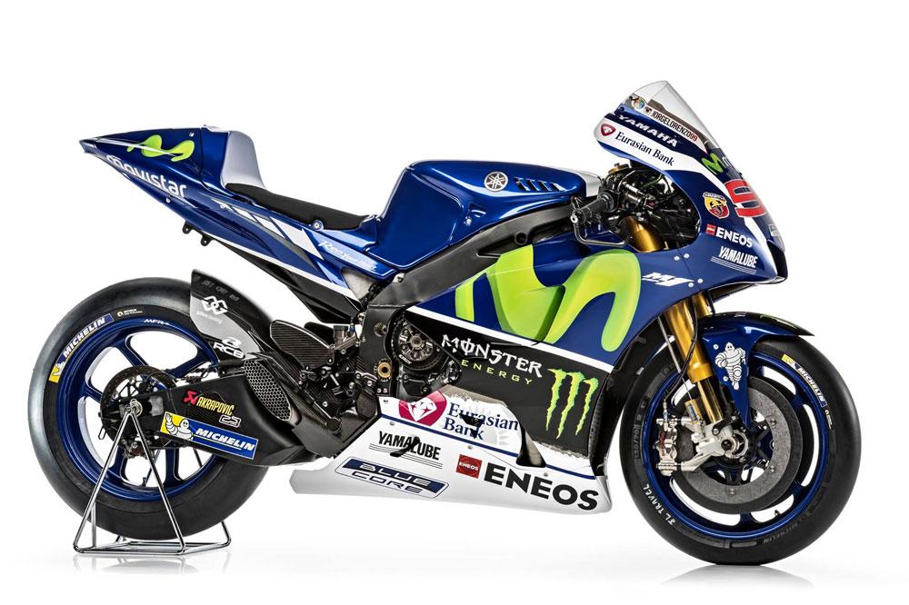 Yamaha YZR-M1, la moto de Jorge Lorenzo y Valentino Rossi