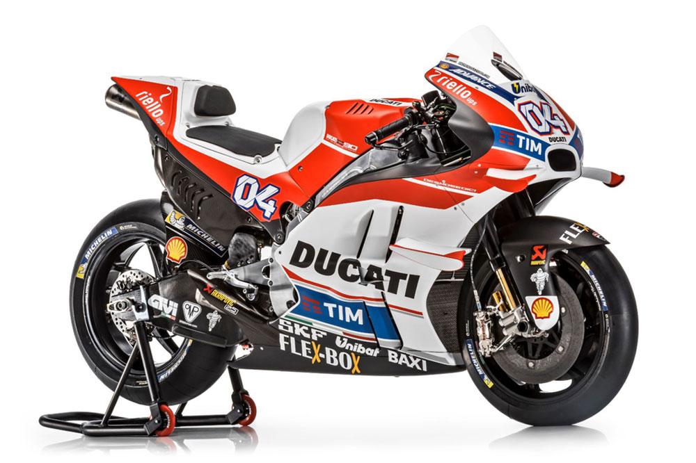 Ducati Desmosedici GP16, la moto de Andrea Dovizioso y Andrea Iannone