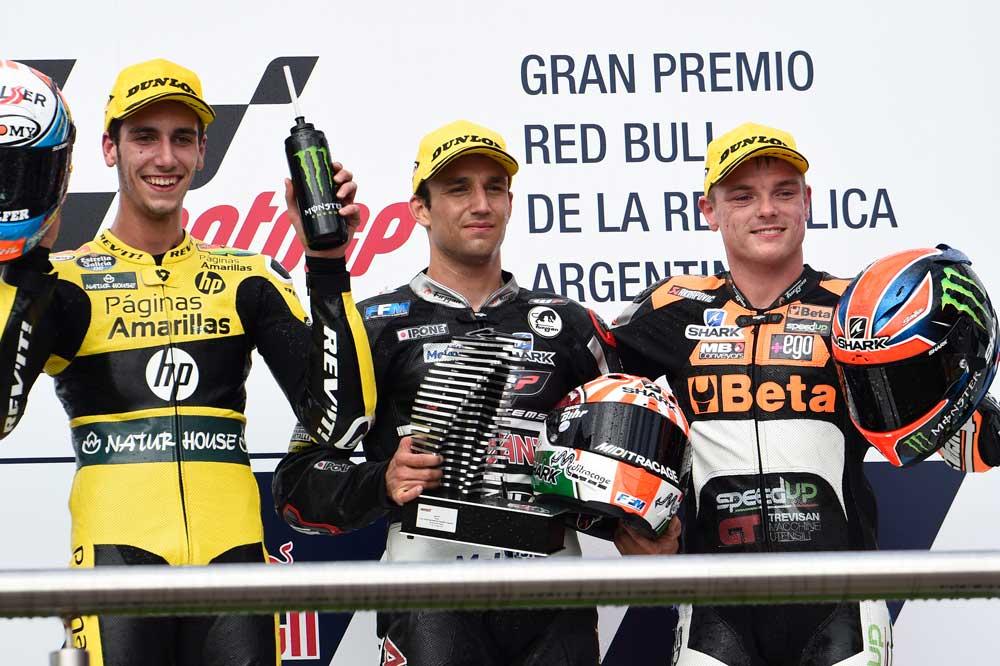 Mundial de Moto2 2016: Trío ganador